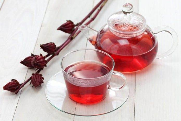 Hibiscus herbal tea is great for a hangover