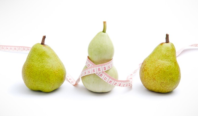 Pear shaped bodies should be careful of excess fat in diet to prevent weight gain in lower body.