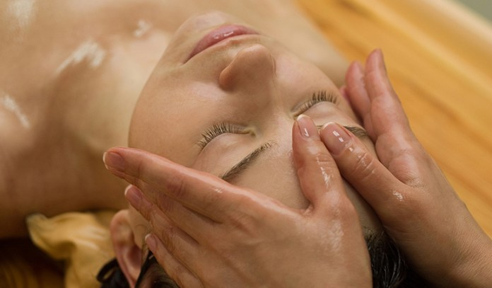 Shirovasthi massages the head by retaining medicated oil over it.