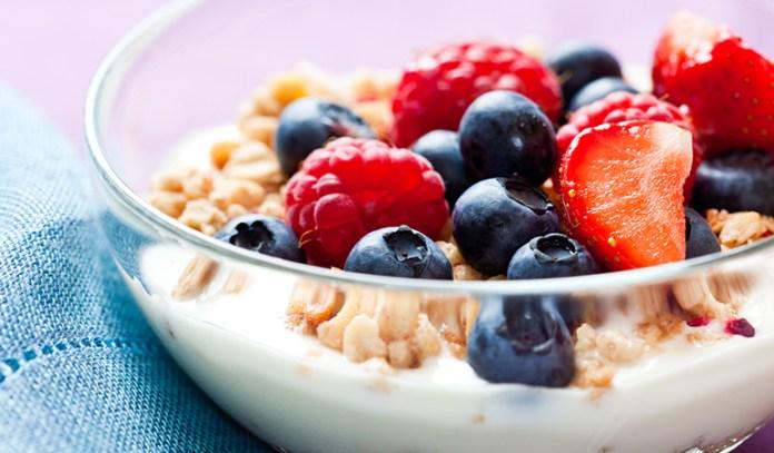 Yogurt With Berries, Nuts, And Granola