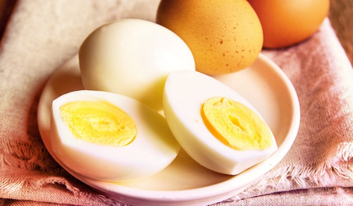 hard boiled eggs are portable and rich in protein