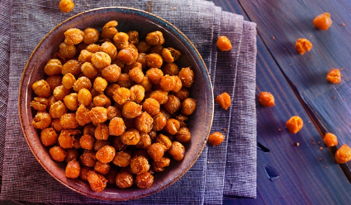 roasted chickpeas are rich in protein