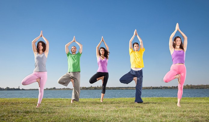 The yogic tree pose requires the person practicing it to keep his eyes open so as to attain and maintain body balance.