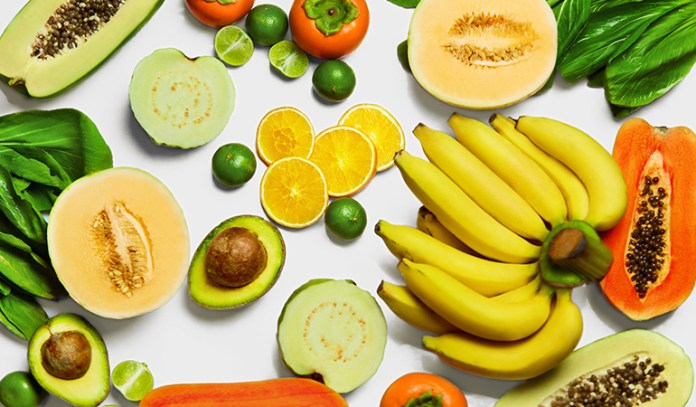 Fruits like oranges, bananas, peaches, and melons help balance vata dosha