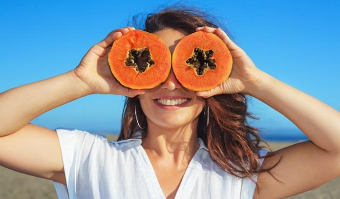 papaya and lemon face mask