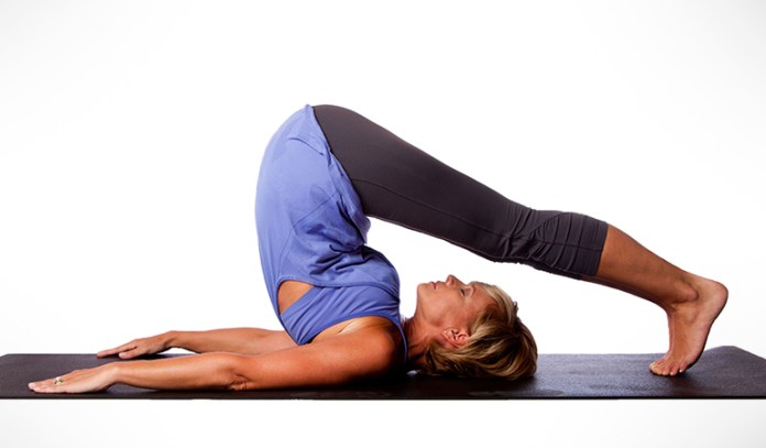 This pose helps the body stretch and improves circulation, allowing the mind to relax