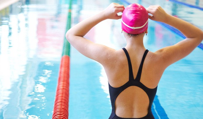 Swimming is great exercise that helps reduce pain in the stomach and back.