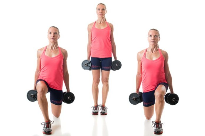 Reverse lunges can help strengthen hamstrings and quads