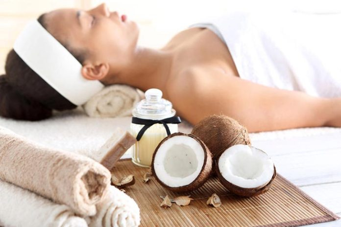 Coconut oil reduces inflammation, treats acne, moisturizes dry skin, and helps heal wounds faster.