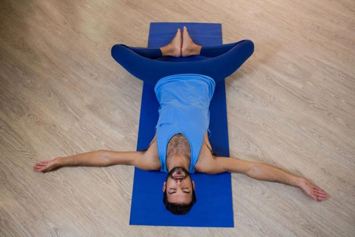 Reclining Bound Angle Pose Stretches Hips And Improves Flow