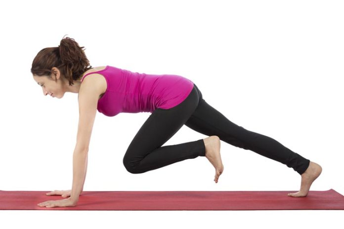 Mountain climbers-a great way to get a total body workout.