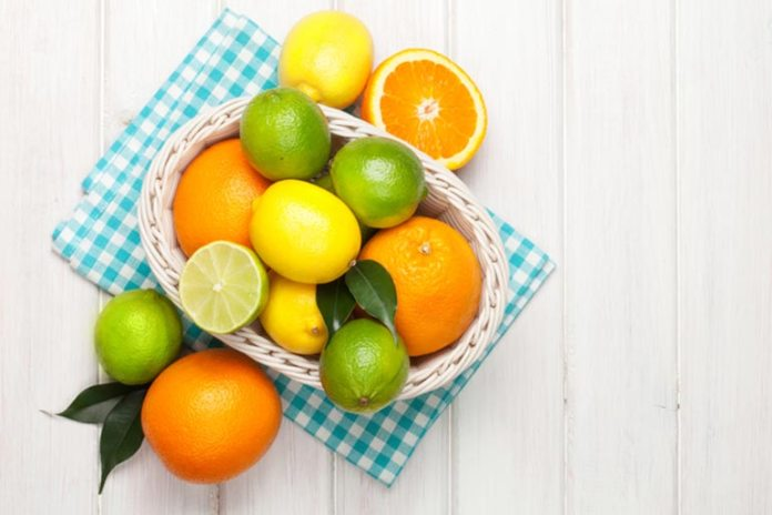 citrus fruits are high in fiber and water