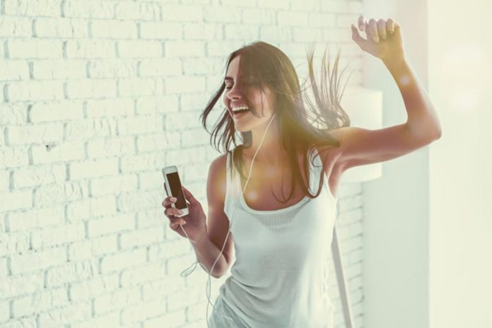 Dancing is a fun way to be active at home