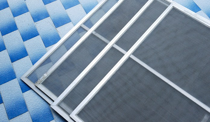 Netting prevents heartworm carrying mosquitoes in the house