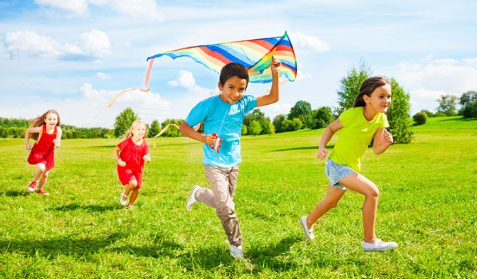 Playmates can motivate your child to play outdoors regularly