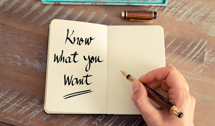 Know What You Want And How You Want To Feel