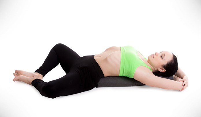 Reclining Bound Angle Pose Opens Up Hips And Groin