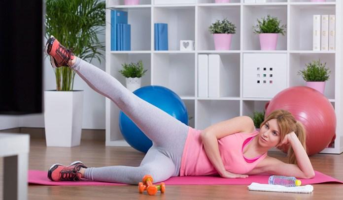 Side quad stretch improves flexibility