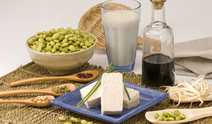 Soy reduces cholesterol