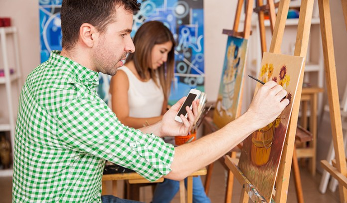 Painting and drawing can help to provide an outlet for a person to release pent-up stress and anxiety.