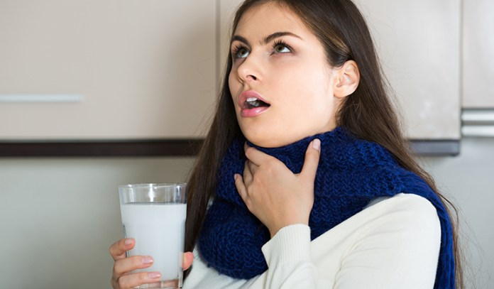 How can we solve the problem of sore throat naturally