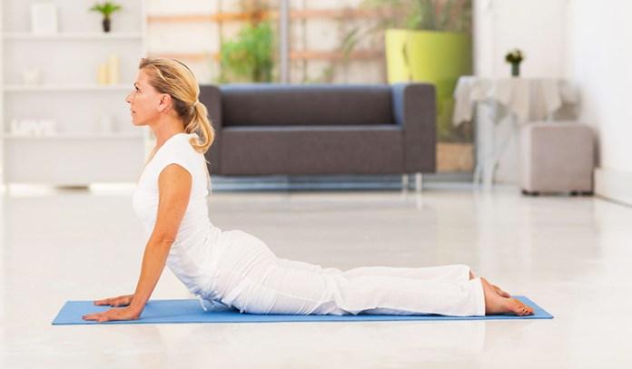 Yoga poses for older beginners Cobra Pose Bhujangasana