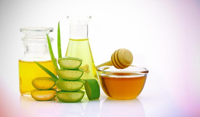 Aloe vera can be used with honey and apple cider vinegar for dandruff