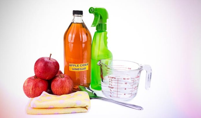 Apple cider vinegar acts as a natural conditioner for hair.