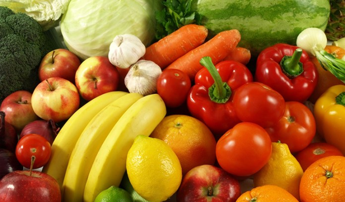 Consume veggies and fruits with lots of water
