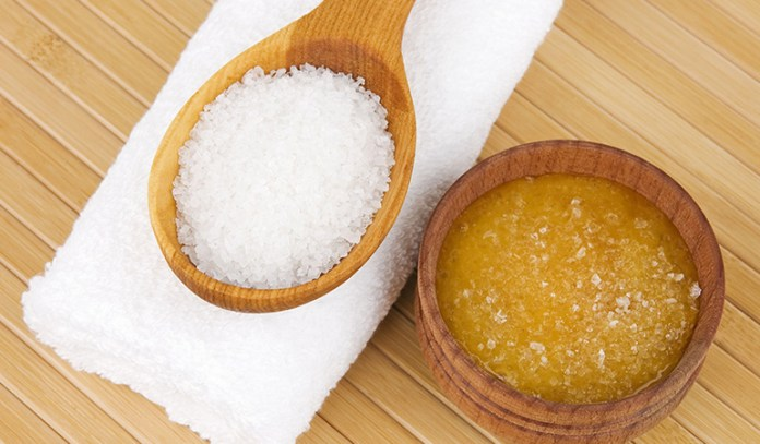 Honey and salt are effective in making the skin glow