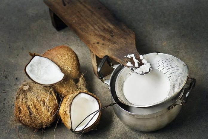Coconut milk contains high levels of calories, carbs, protein, and fat, which can cause weight gain