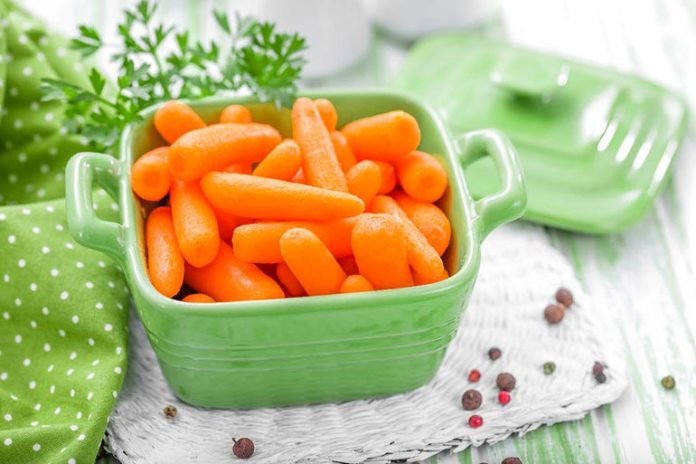 Baby carrots are full of nutrients that help boost immunity, bring down bad cholesterol, and protect the eyes and heart.