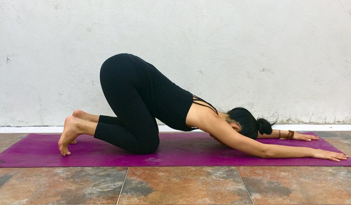 Melting Heart Pose (Anahatasana)
