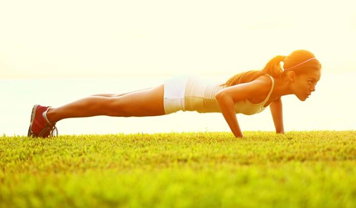 Push-ups strengthen your upper body.
