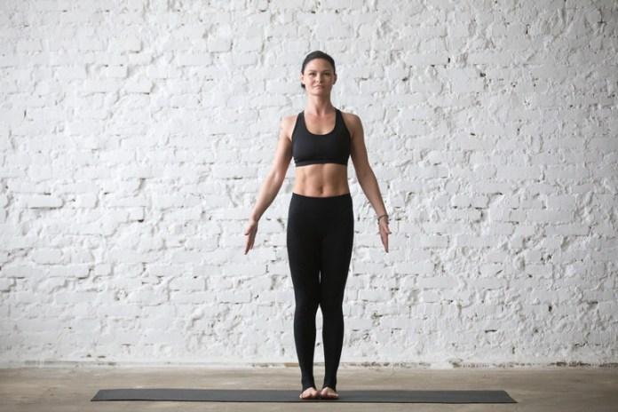 Mountain Pose Forces You To Stand Straight, Correcting Alignment