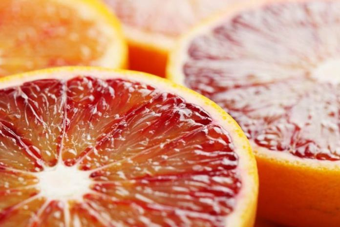 Blood oranges have a low energy density