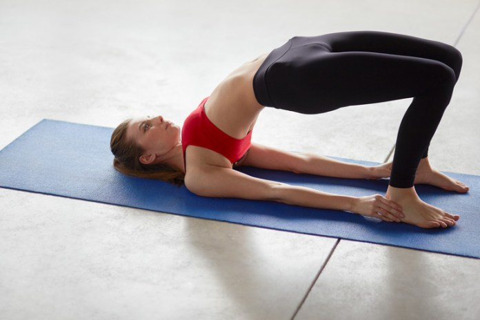 Bridge Pose Is Good Stretch For Shoulder, Butt, And Chest