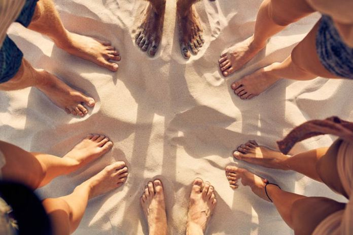 Some toenails might look black just because of the skin tone
