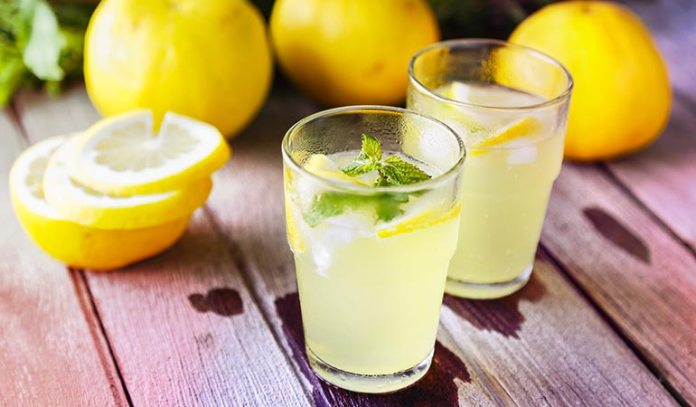Drink lemon juice mixed with black pepper and a pinch of salt.