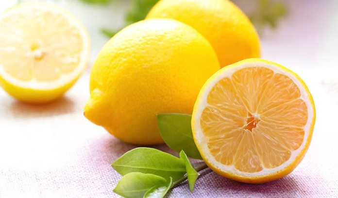 (Lemon has natural bleaching properties and helps in lightening of the skin tone