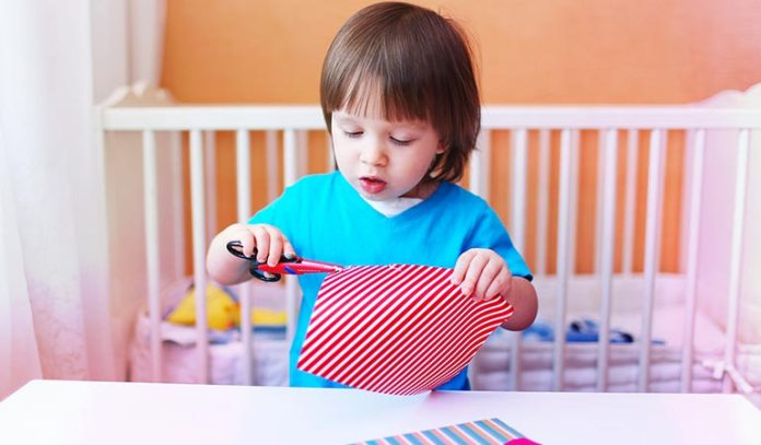 Making a collage can boost your kid's motor skills.