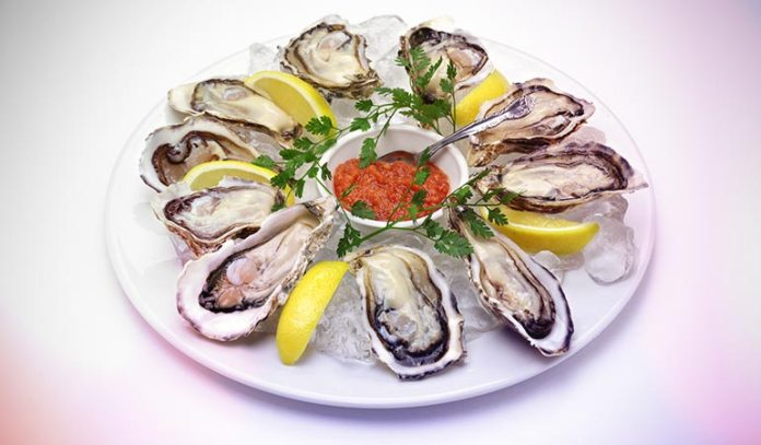 Clams, oysters, and some species of seafood are high in iron conten