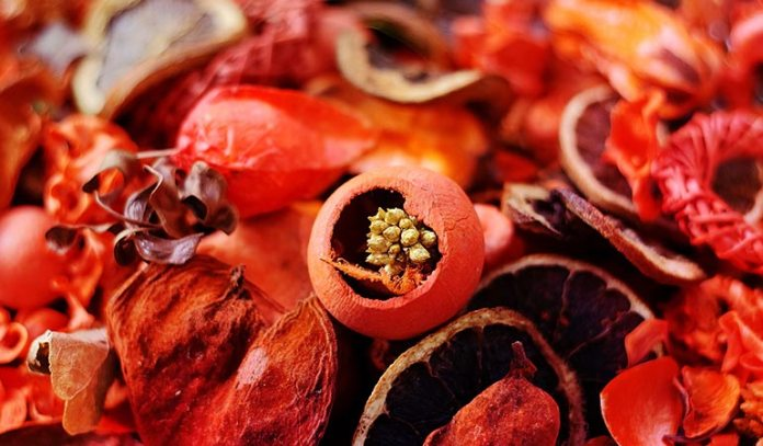Combine Dried Orange Peels With Aromatic Spices