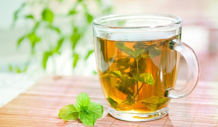 mint tea is soothing during flu)