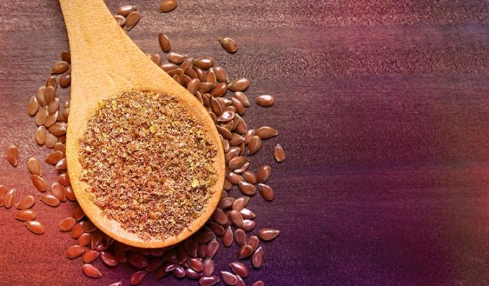 (Ground flaxseed soaked in water are healthy egg substitutes