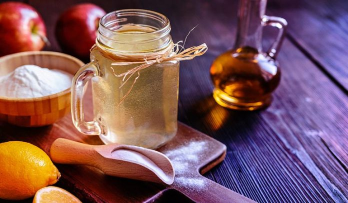 Mix lemon and apple cider vinegar and use it on your body