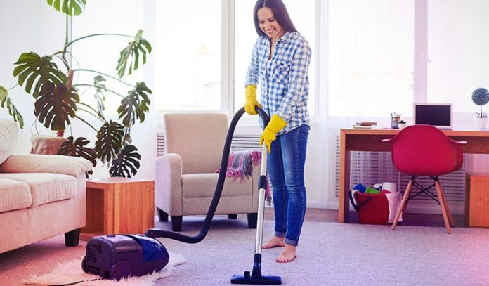 Keep vacuuming and steam cleaning the carpets and furniture at home