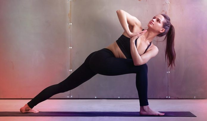 The twisted lunge is somewhat complicated, but doable, and helps relieve back pain