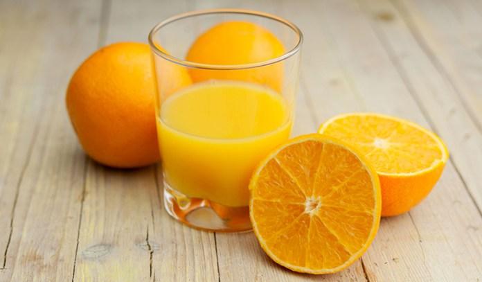 Vitamin C in orange juice lightens skin.