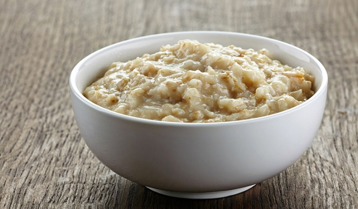 Adding pumpkin to oatmeal makes it creamier and thicker